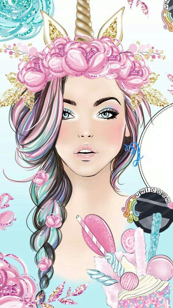 Epingle Par H 20 Sur Girly M Dessins Mignons Images Licorne Fond D Ecran Colore