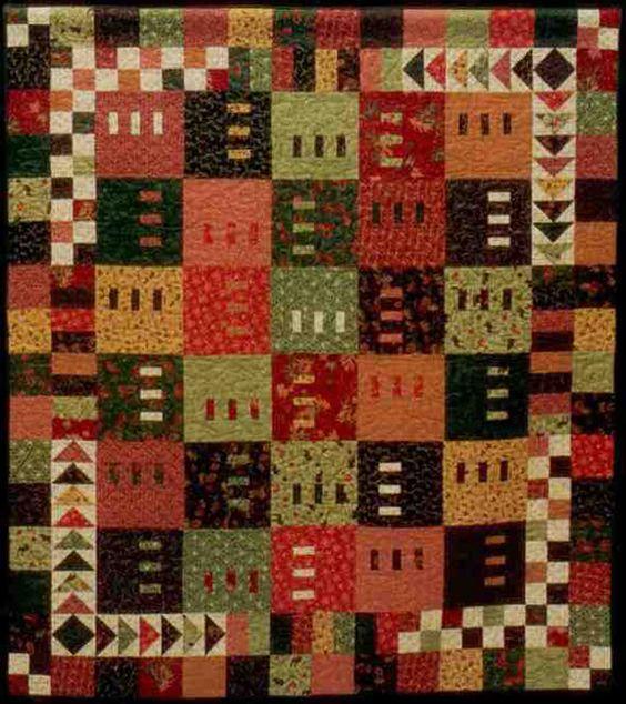 Intermediate Quilting Patterns : Just a Little Bit of Modern Quilt Pattern GC-190 (intermediate, lap and throw) quilt patterns ...