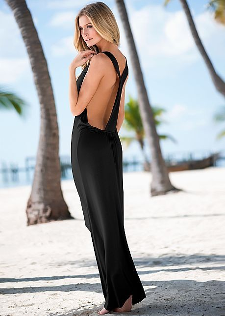 Alluring t-back maxi dress from VENUS