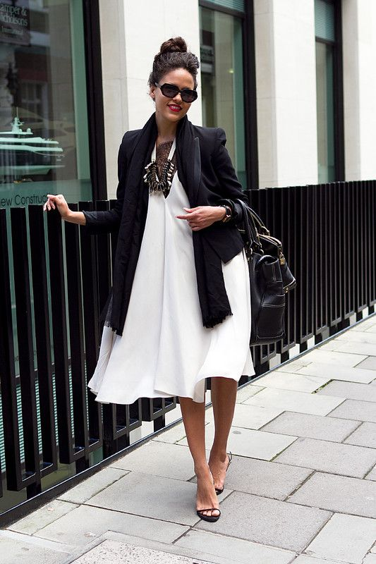 How to style a flowy white dress