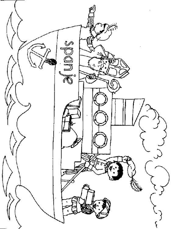boot sinterklaas coloring page sinterklaas en