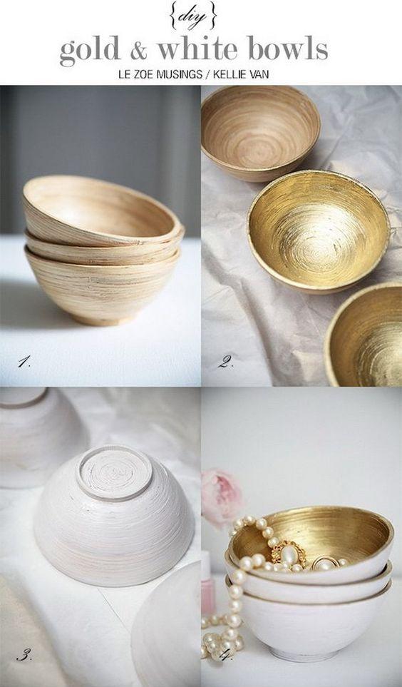 Des bols remplies d'Or
