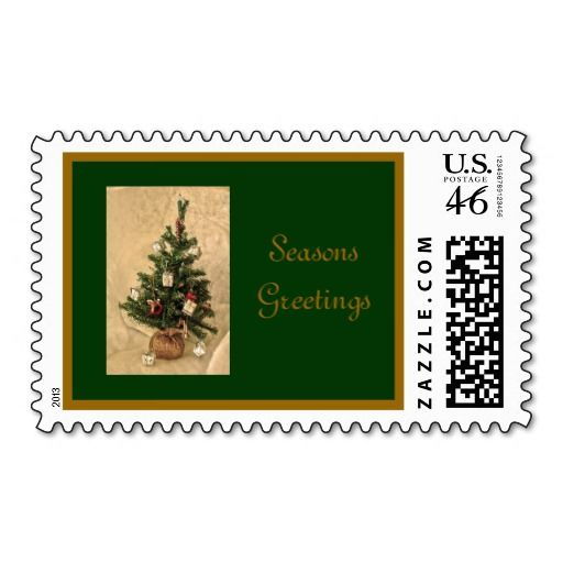 Seasons Greetings Custom United States Postage Stamps Designed by Love ...