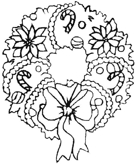 christmas coloring pages wreathes - photo#15