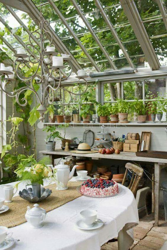 Yes! A lovely tea party in my greenhouse! Love this idea! ❤️