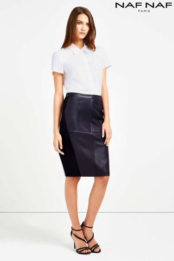 Buy Naf Naf Faux Leather Pencil Skirt from the Next UK online shop ...
