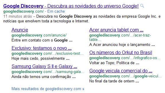 Adeus 1996! Google exclui o underlined links