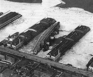 The SS Normandie, French ocean liner while BEING REFITTED AS A TROOP ...
