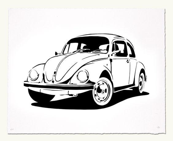 Vw beetle pochoirs manuel et produits et technologie - Dessin coccinelle vw ...