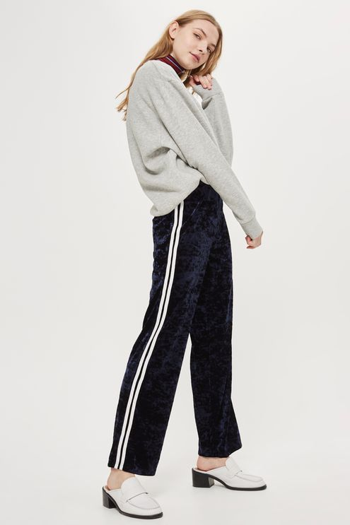 Velvet Side Striped Track Pants