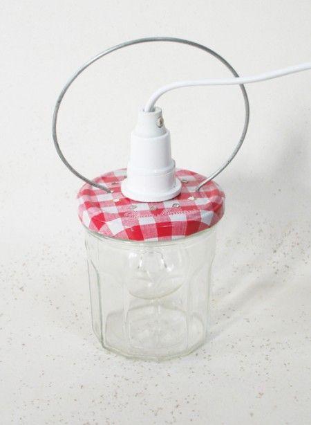 lampes pots de gel e and lumi res en bocaux on pinterest. Black Bedroom Furniture Sets. Home Design Ideas