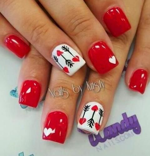 40 Cute Valentine S Day Nail Designs You Can Diy Acrylic Nails Red Nails Valentin Diy Valentine S Nails Nail Designs Valentines Valentine S Day Nail Designs