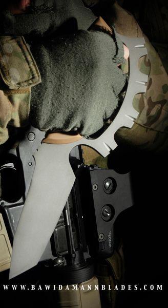 Bawidamann Blades RANDGRIDR Fixed Tactical Combat Knife Blade