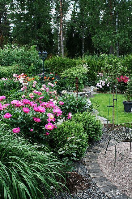 Garden View - Peonies: