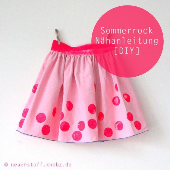 Sommerrock Nähanleitung DIY - easy skirt tutorial by knobz ...