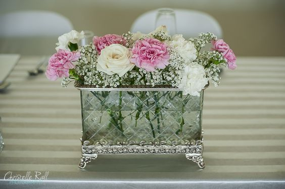 Jolandi and Warren's Wedding {Love in Lights} flowers in glass box vase