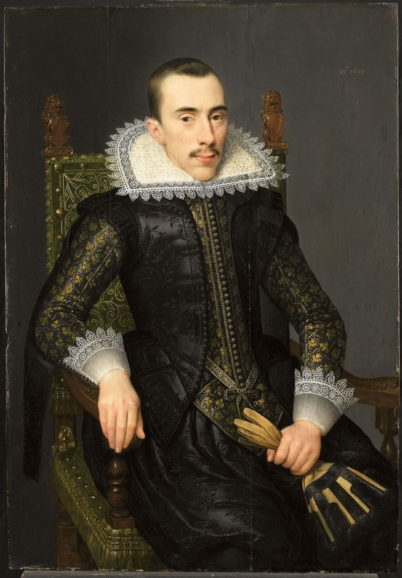 1620 Attributed to Salomon Mesdach - Portrait of a Man, Possibly Walterus Fourmenois: