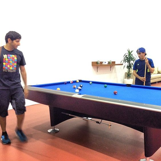 Shaikh Hamdan and Shaikh Saeed playing pool @ faz3 @uncle_saeed #faz3 #pool #unclessaeed - @eisa_sharif- #webstagram