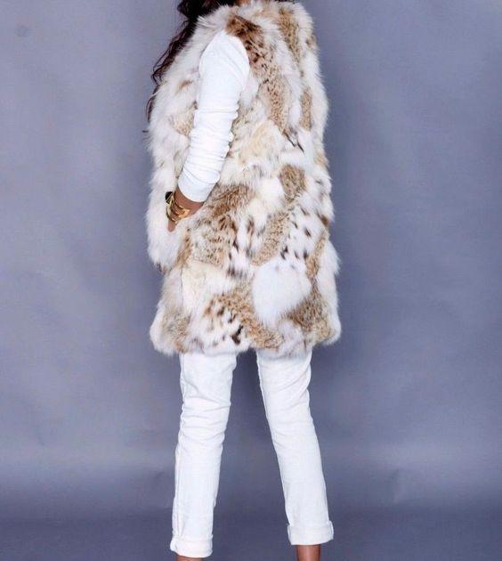 Brand New Absolutely Gorgeous Genuine Lynx Fur Vest Jacket M 6 8 10 #MONA #Vest