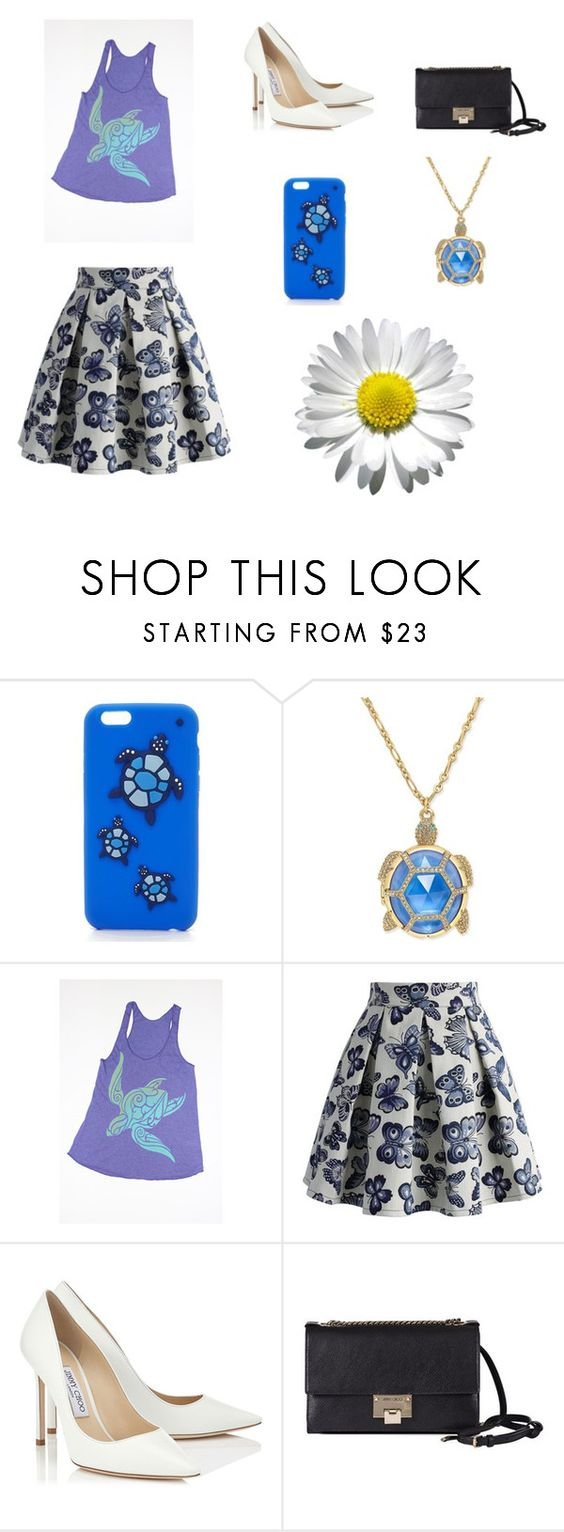 """Sin título #1002"" by bravotamara on Polyvore featuring moda, Kate Spade, Chicwish y Jimmy Choo"