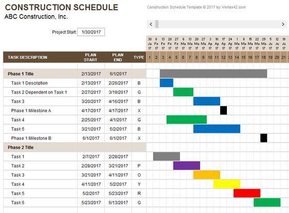 Construction Schedule Template Weekly Schedule Template Excel Schedule Template Schedule Templates