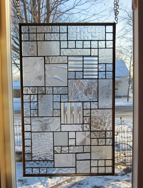 Mirth Stained Glass Window Panel Abstract Geometric Ebsq Artist Window Glass Design Window Grill Design Stained Glass