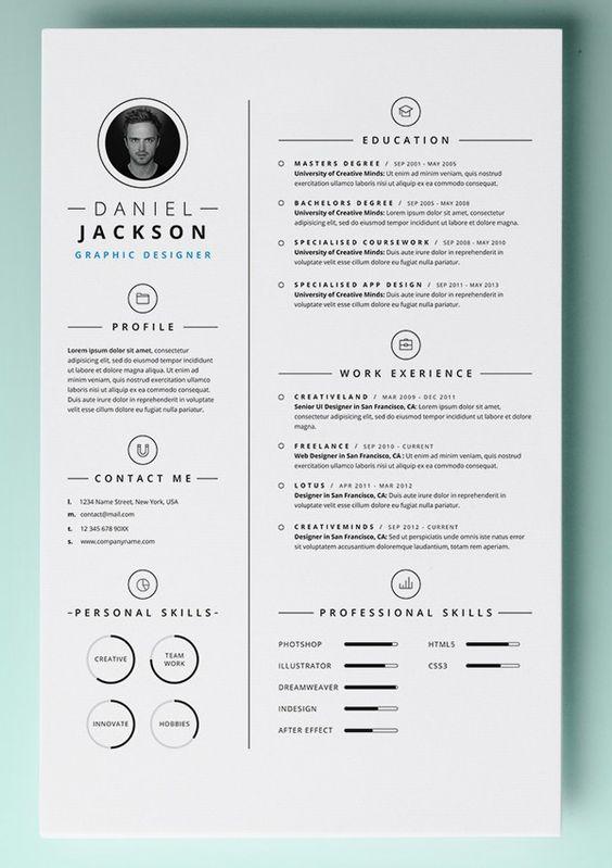 30 resume templates for mac free word documents for Free resume layout