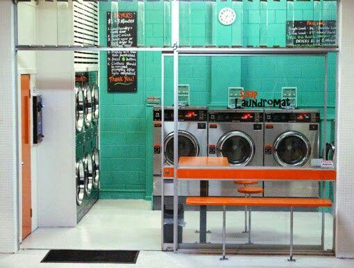 Coin laundry interior design – Lavagettone | Studio Sano | laundry ...