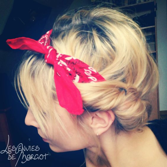 Les envies de Margot: Coiffure estivale avec bandana (tuto) http://lesenviesdemargot.blogspot.com/2013/04/coiffure-estivale-avec-bandana-tuto.html: