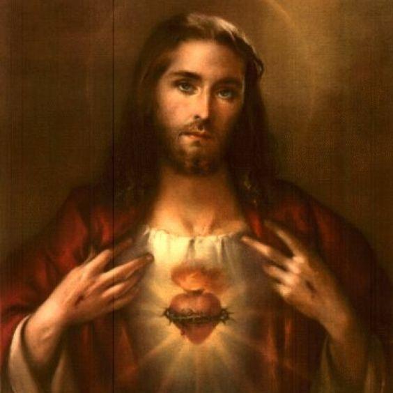 Sacred Heart of Jesus.  Beautiful...