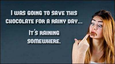 It's raining somewhere!