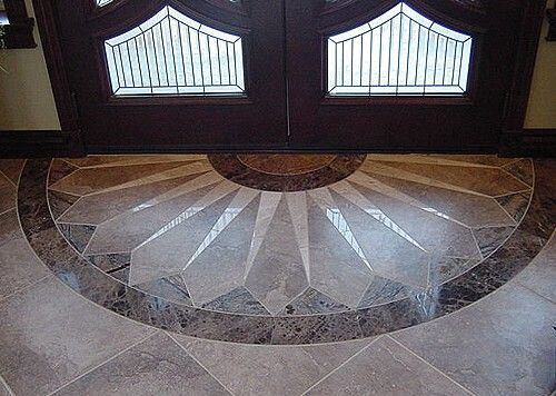 Foyer Flooring Zip : Tile entry design wet bar in family room
