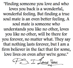 for my soul mate