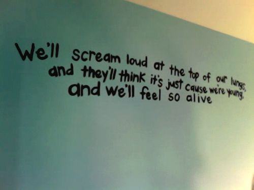 The Great Escape- Boys Like Girls.     This song was my ultimate inspiration song for most of my 8th grade year and summer
