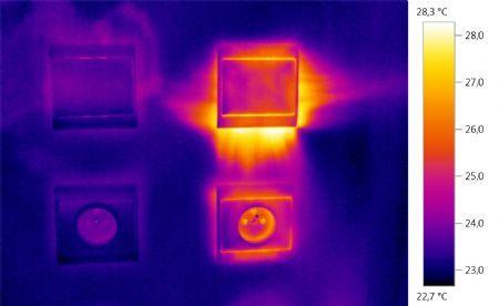 Infraroodcamera test luchtdichte inbouwdozen van HELIA