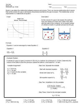 Worksheets Chemical Laws Worksheet Answers Pdf law teacher pay teachers and chemistry on pinterest worksheet the topic of boyles includes explanation completed example problem practice pro