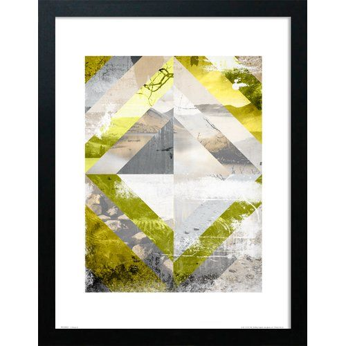Abstract Landscapes Paint Framed Graphic Art Print East Urban