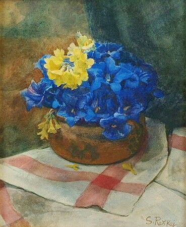 Flowers by Slava Raskaj  #raskaj #watercolor #croatia