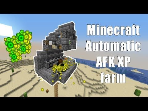 Minecraft Automatic Xp Farm Bank 1 14 4 Easy To Make Youtube Minecraft Farm Minecraft Redstone Creations Minecraft