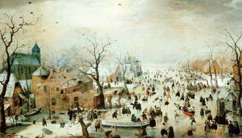 Hendrick Avercamp - Winter Games - Kunstreproduktionen, individuelle Kunstkarten