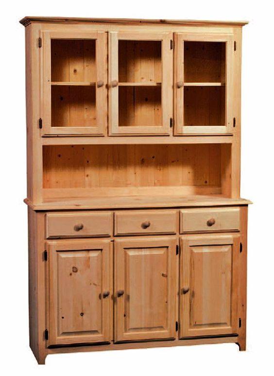 Unfinished Solid Radiata Pine 3 Drawer 3 Door Buffet 3