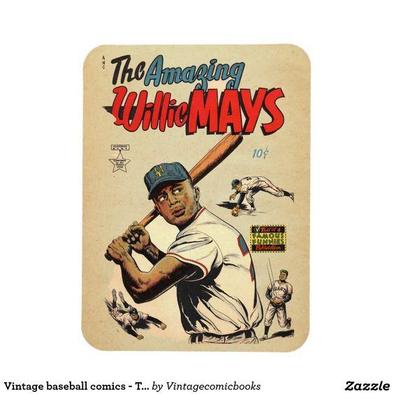 #vintagecomicbooks #baseball #marvel #dccomics #theamazingwilliemays #comicbook #sports #williemays #magnet Vintage baseball comics - The amazing Willie Mays Rectangular Photo Magnet