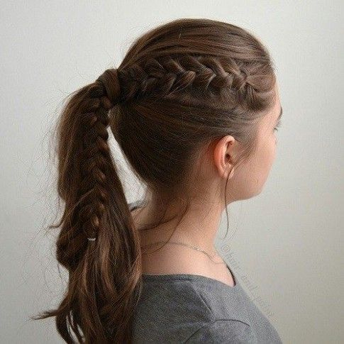 Cool Easy Hairstyle In 2020 Cute Hairstyles For Teens Girls School Hairstyles Easy Hairstyles For Long Hair