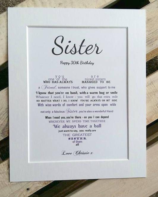 Personalised Sister Gift Unframed Sister Birthday Gift Sister Christmas Gifts Personalised Gift For Sister Sister Family Tree Personalised Gifts For Sister Christmas Gifts For Sister Birthday Gifts For Sister