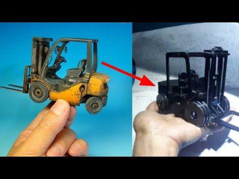 Cara Membuat Miniatur Forklift Dari Acrylic Youtube Forklift Acrylic Youtube