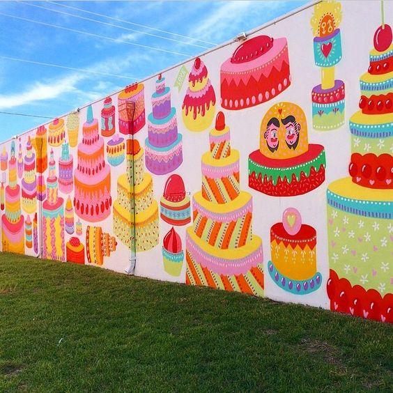 #artbasel2014 #abmb #artbaselmiami #art #streetart #graffiti #50cakes #kashink #pride #lgbt #cake #cakeart #color