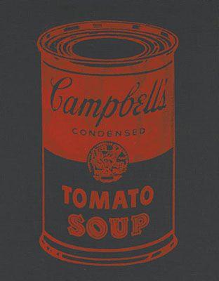 キャンベルのスープ缶(黒)  by アンディ・ウォーホル)