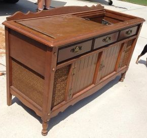 repurposing old stereo cabinet | just b.CAUSE