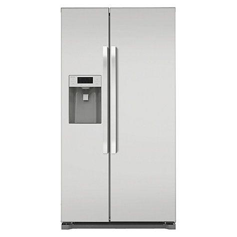 Buy John Lewis JLAFFS2011 American Style Fridge Freezer, Silver Online at johnlewis.com