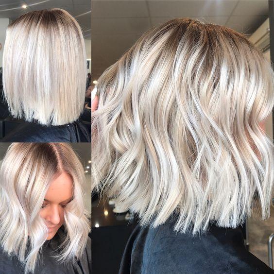 Medium Length Haircuts Short Hairstyles Blonde Bob Ash